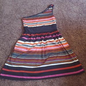 Bebop one shoulder multicolor dress